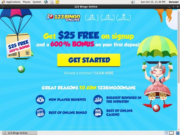 123 Bingo Online Register Bonus