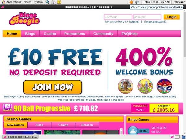 Bingo Boogie Bonuscode