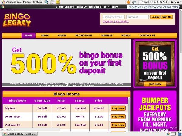 Bingo Legacy Online Spielen