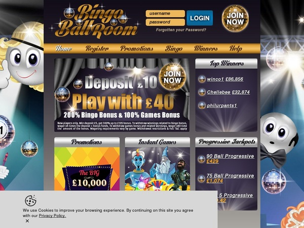 Bingoballroom Offer Bonus