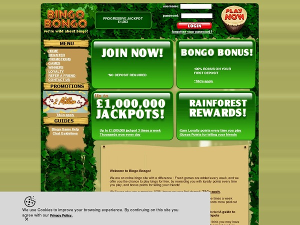 Bingobongo Sign Up Promo