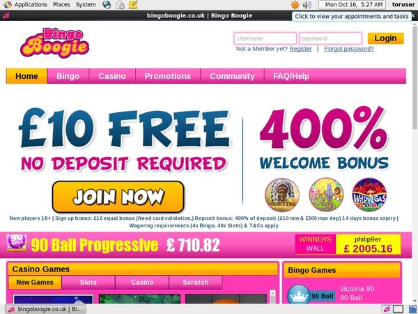 Bingoboogie Mobile Free Spins