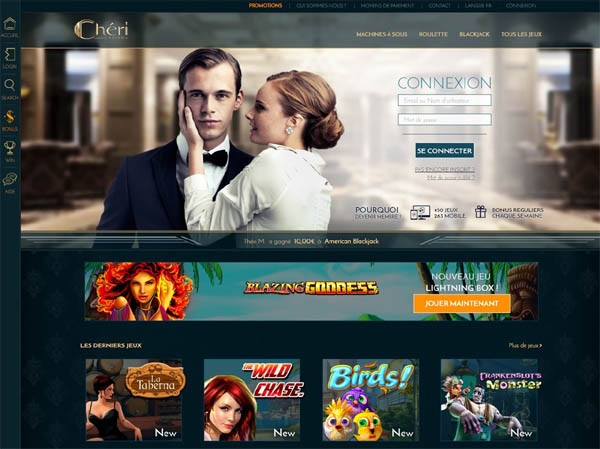 Cheri Casino Register Bonus