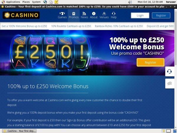 Deposit Cashino