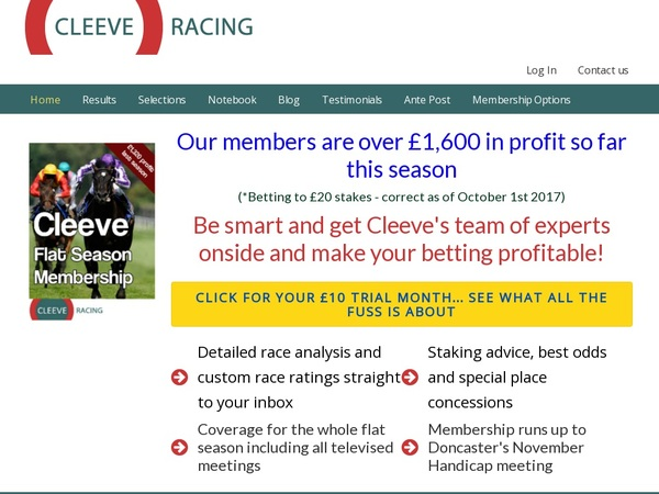 Join Cleeve Racing Free