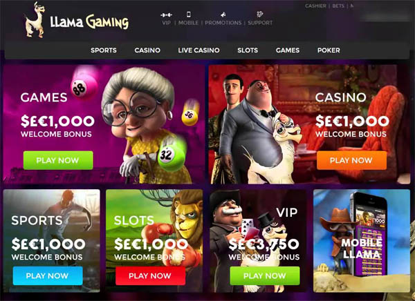 Llama Casino Advertisement