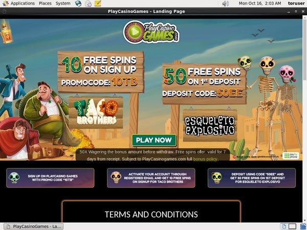 Playcasinogames Upgrade Account