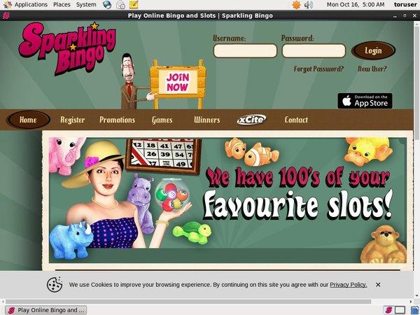 Sparklingbingo Slots Bonus