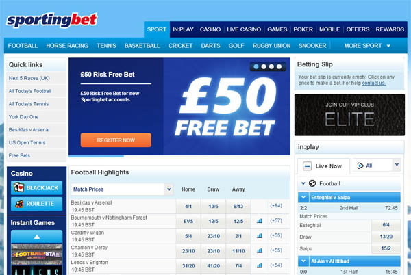 Sporting Bet UK Casino Test
