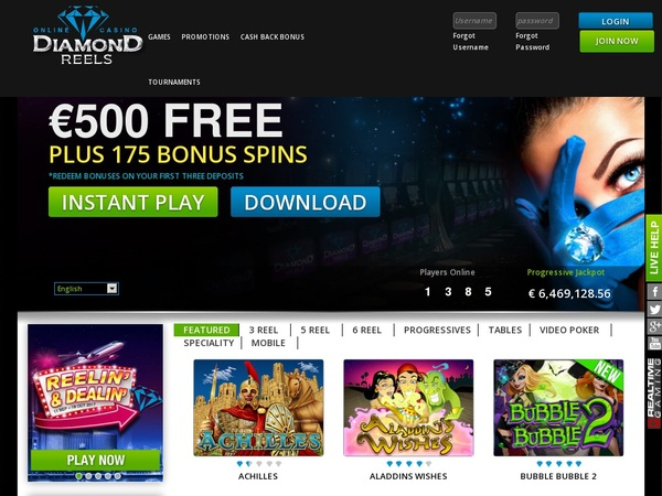Welcome Bonus Diamond Reels Casino