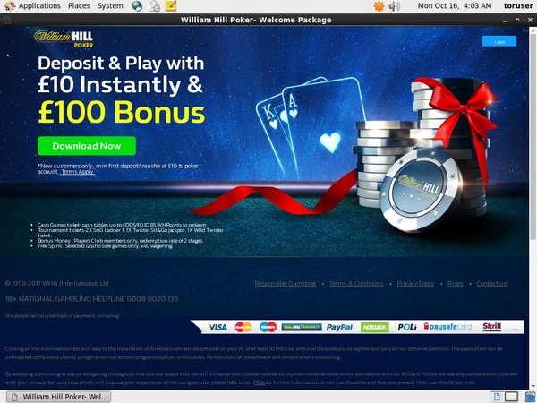 Williamhill Bonus Deal