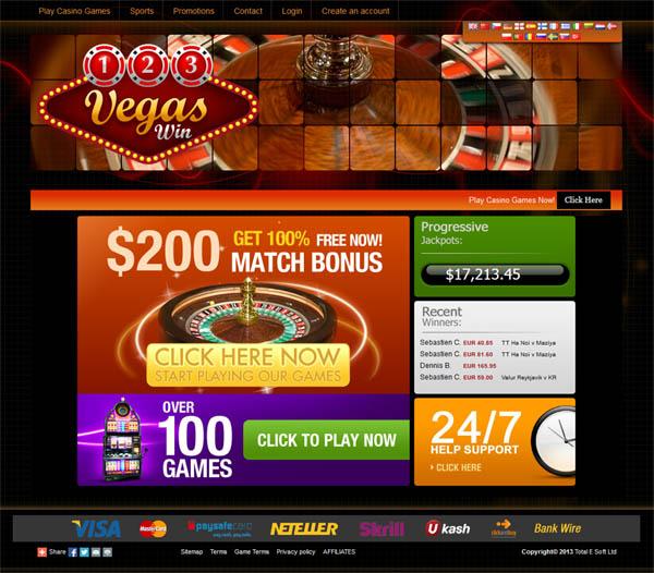123 Vegas Win Bonus Bet