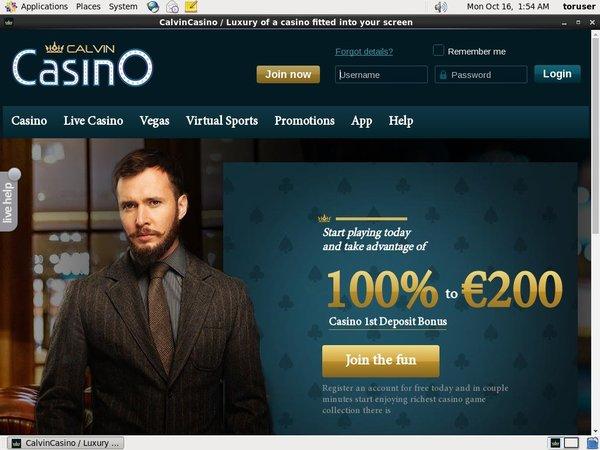 Calvin Casino New Betting Slip