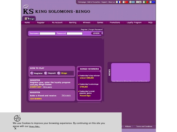 KS Bingo Limited Offer