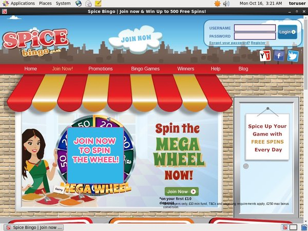 Spice Bingo Promotions Deal