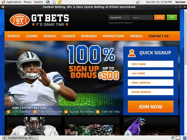 GT Bets Horse Racing Join Promo