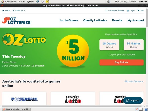 Ozlotteries Odds To Win