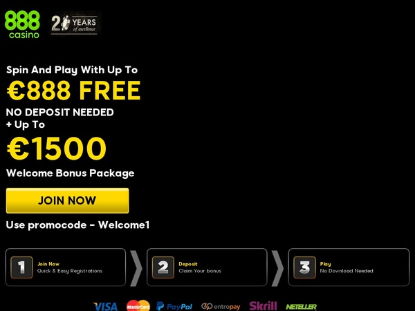 888casino Sign Up Bonus