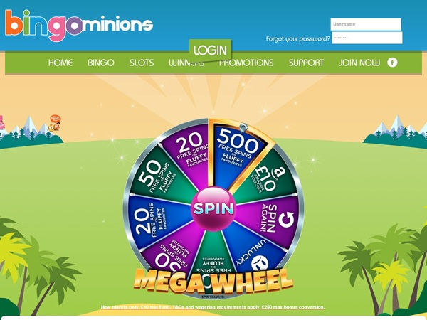Bingo Minions Casino Bonus Uk