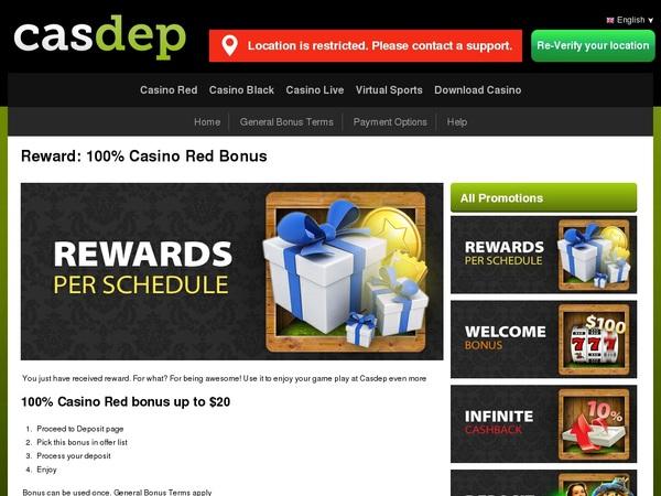How To Get Casdep Bonus?