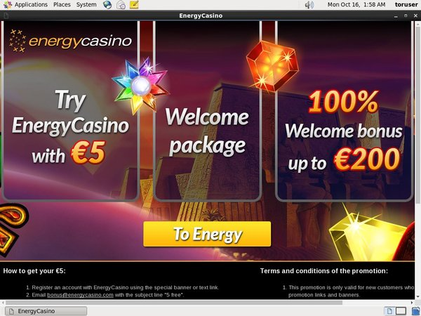 Energycasino Create New Account