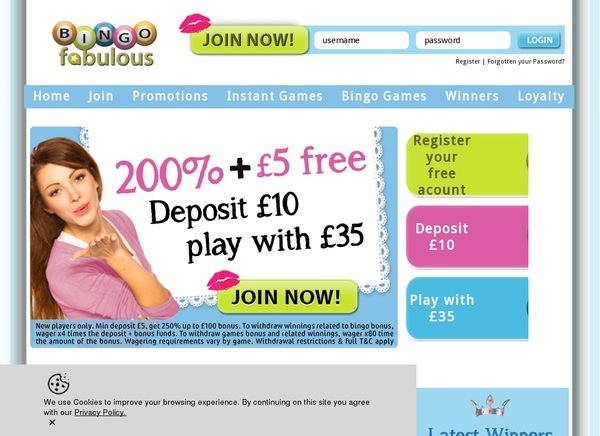 Bingofabulous Play Online Casino