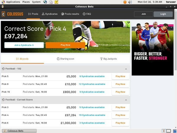 Colossus Bets Pounds No Deposit