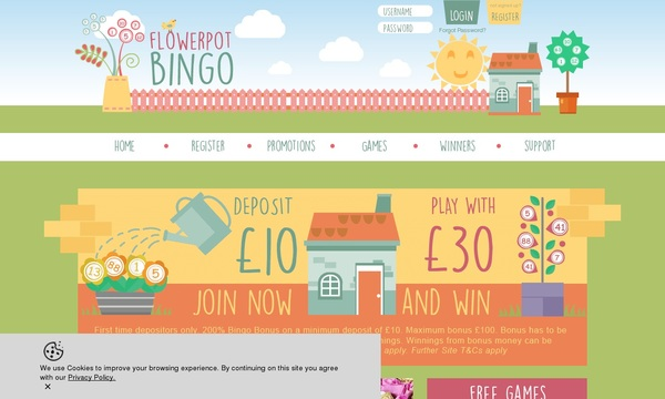 Flower Pot Bingo Betsafe