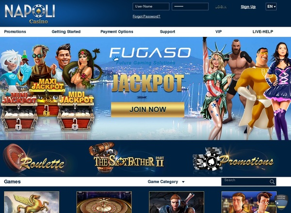 Napoli Casino Sign Up