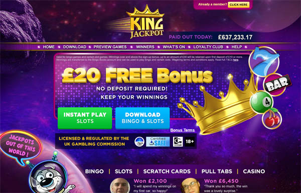 Free King Jackpot Account