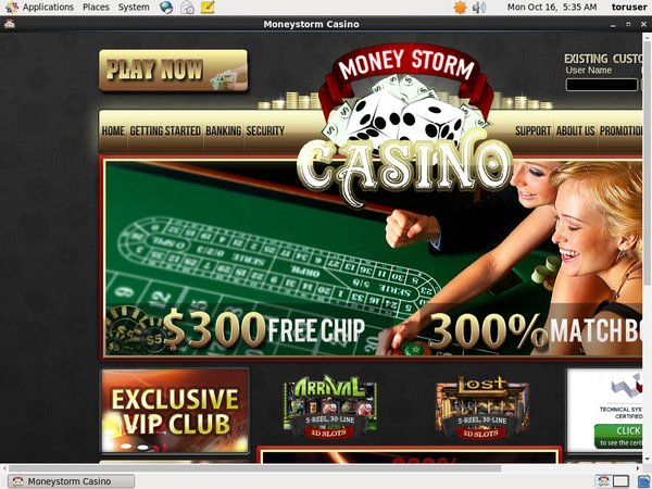 Moneystorm Casino Membership