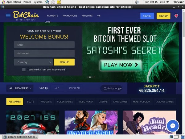 Bet Chain Sign Up Free