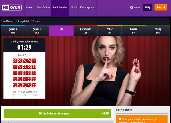 Mr Oyun Internet Casino