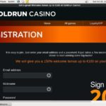 Gold Run New Account