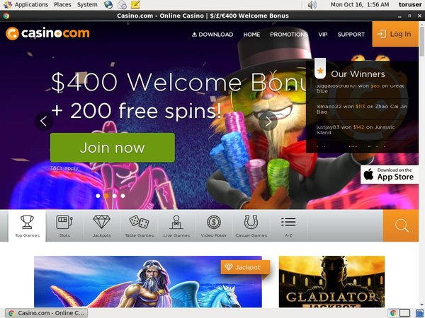 Casino.com Place Bet