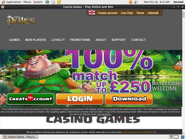 Casinodukes Free Spins