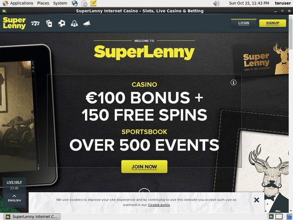 Super Lenny Welcome Bonus Offer
