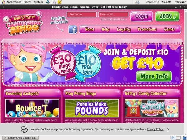 Candy Shop Bingo Mobile Poker