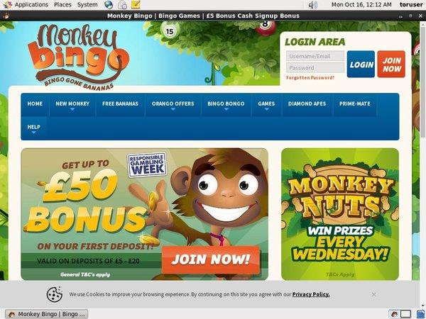 Monkeybingo Cash Codes