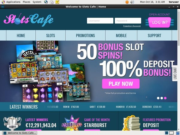 Slots Cafe Highroller Bonus