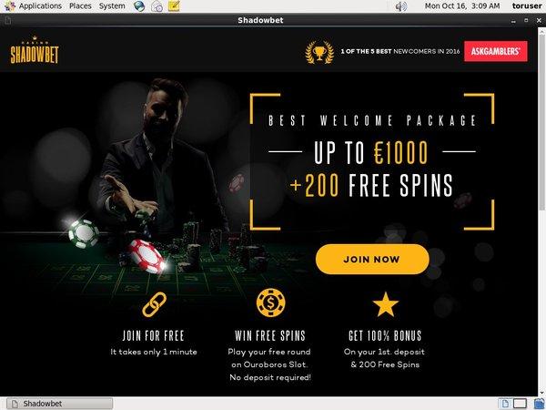 Shadowbetcasino Free Bets