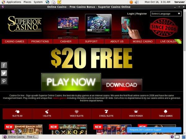 Superior Casino Bonus Spin