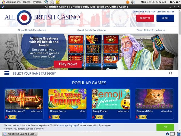 Allbritishcasino Registration