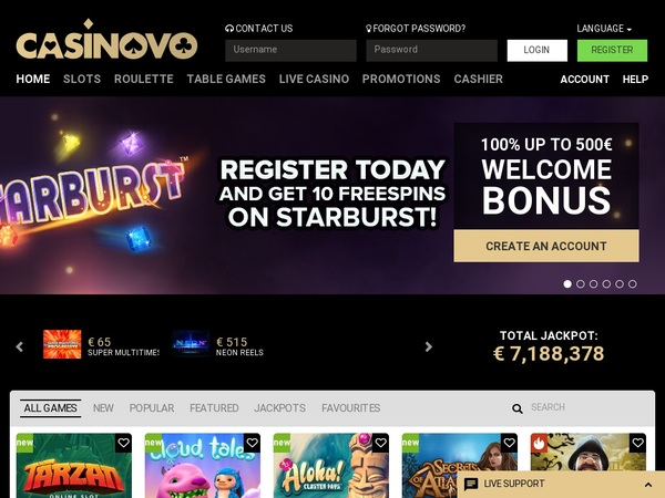 Casinovo First Deposit Bonus