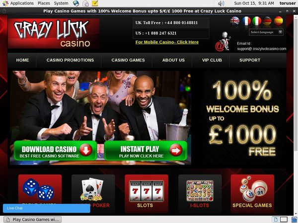 Crazyluckcasino Registration Promo Code