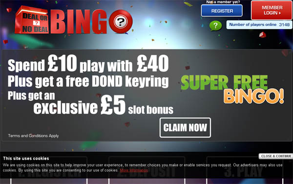 Deal Or No Deal Bingo Free Spins Bonus