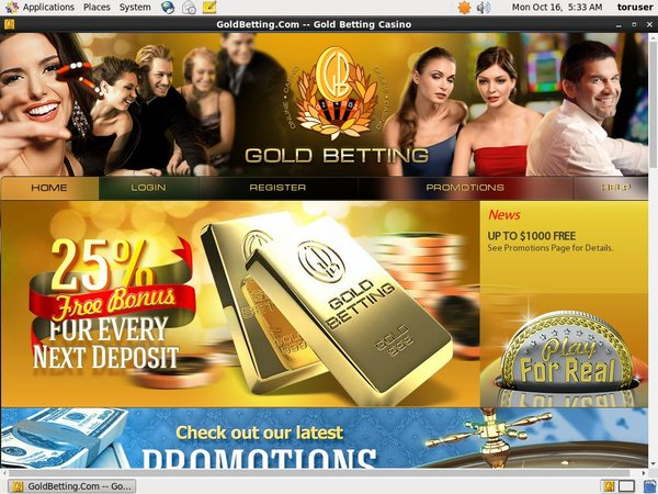 Goldbetting No Deposit Required