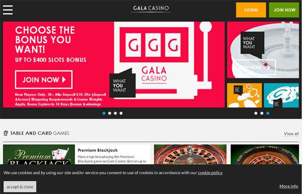 Galacasino Bonus Bet