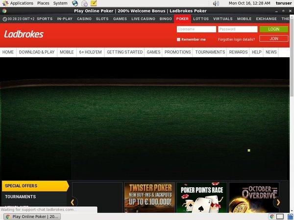 Ladbrokes Poker Live Games