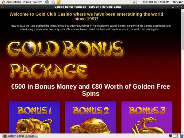 Max Deposit Gold Club Casino
